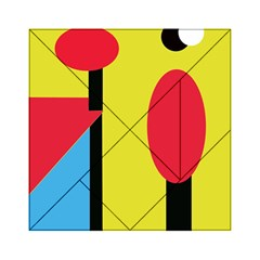 Abstract landscape Acrylic Tangram Puzzle (6  x 6 )
