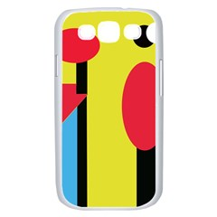 Abstract landscape Samsung Galaxy S III Case (White)