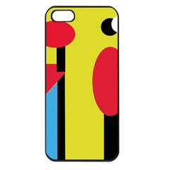 Abstract landscape Apple iPhone 5 Seamless Case (Black)