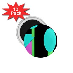 Abstract landscape 1.75  Magnets (10 pack)