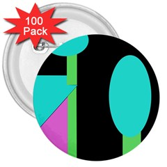 Abstract landscape 3  Buttons (100 pack)