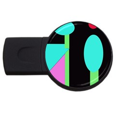 Abstract landscape USB Flash Drive Round (2 GB)