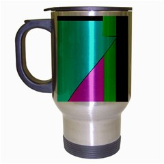 Abstract landscape Travel Mug (Silver Gray)
