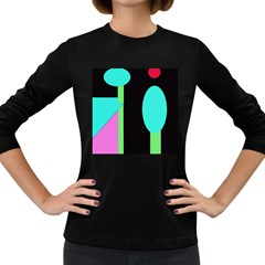 Abstract landscape Women s Long Sleeve Dark T-Shirts