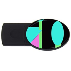 Abstract landscape USB Flash Drive Oval (4 GB)