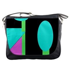 Abstract landscape Messenger Bags