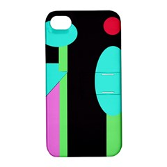 Abstract landscape Apple iPhone 4/4S Hardshell Case with Stand