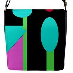 Abstract landscape Flap Messenger Bag (S)