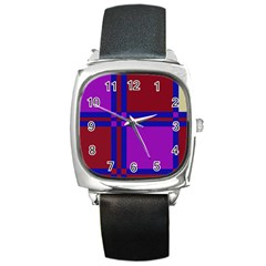 Deorative design Square Metal Watch