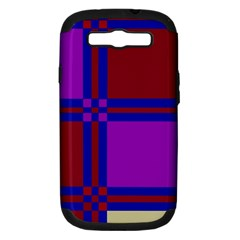 Deorative design Samsung Galaxy S III Hardshell Case (PC+Silicone)