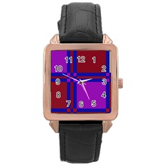 Deorative design Rose Gold Leather Watch