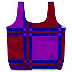 Deorative design Full Print Recycle Bags (L)