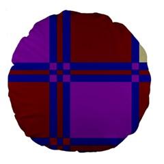 Deorative design Large 18  Premium Flano Round Cushions