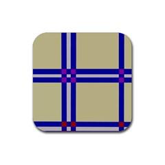 Elegant lines Rubber Coaster (Square)