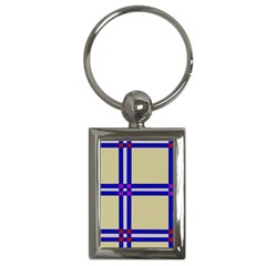 Elegant lines Key Chains (Rectangle)