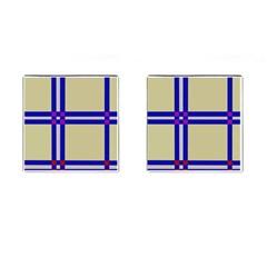 Elegant lines Cufflinks (Square)