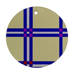 Elegant lines Round Ornament (Two Sides)