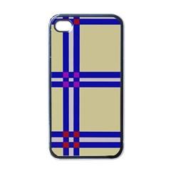 Elegant lines Apple iPhone 4 Case (Black)