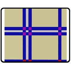 Elegant lines Double Sided Fleece Blanket (Medium)