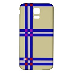 Elegant lines Samsung Galaxy S5 Back Case (White)