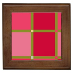 Red and green Framed Tiles