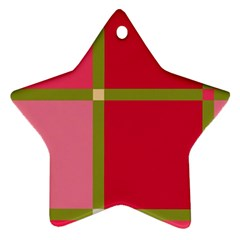 Red and green Ornament (Star)