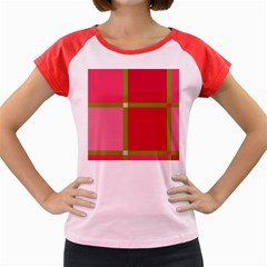 Red and green Women s Cap Sleeve T-Shirt
