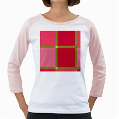Red and green Girly Raglans