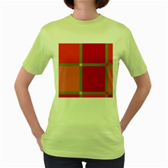 Red and green Women s Green T-Shirt