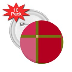 Red and green 2.25  Buttons (10 pack)