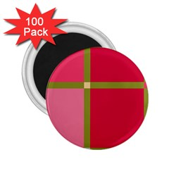 Red and green 2.25  Magnets (100 pack)