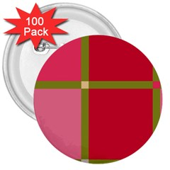 Red and green 3  Buttons (100 pack)