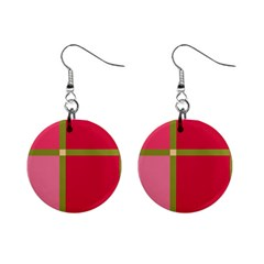 Red and green Mini Button Earrings