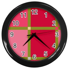 Red and green Wall Clocks (Black)