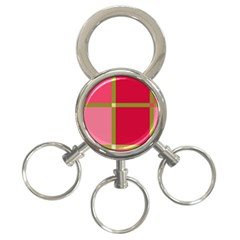 Red and green 3-Ring Key Chains