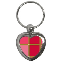 Red and green Key Chains (Heart)