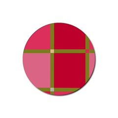 Red and green Rubber Coaster (Round)