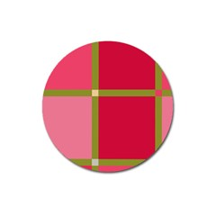 Red and green Magnet 3  (Round)