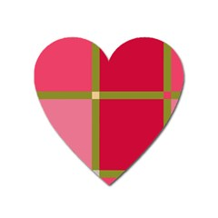 Red and green Heart Magnet