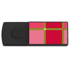 Red and green USB Flash Drive Rectangular (2 GB)