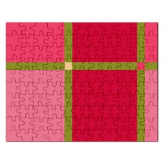 Red and green Rectangular Jigsaw Puzzl