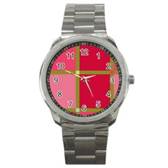 Red and green Sport Metal Watch