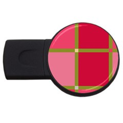 Red and green USB Flash Drive Round (4 GB)