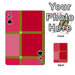 Red and green Playing Cards 54 Designs
