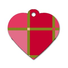 Red and green Dog Tag Heart (Two Sides)
