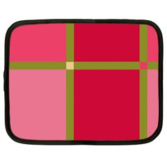 Red and green Netbook Case (Large)