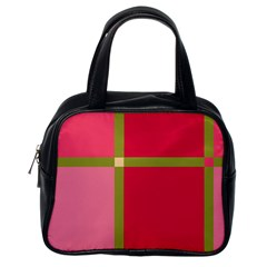 Red and green Classic Handbags (One Side)