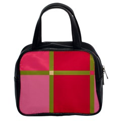 Red and green Classic Handbags (2 Sides)