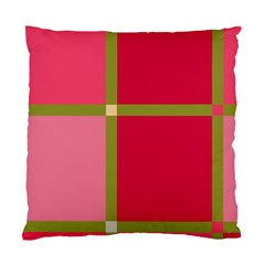 Red and green Standard Cushion Case (One Side)