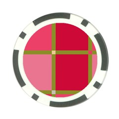 Red and green Poker Chip Card Guards (10 pack)